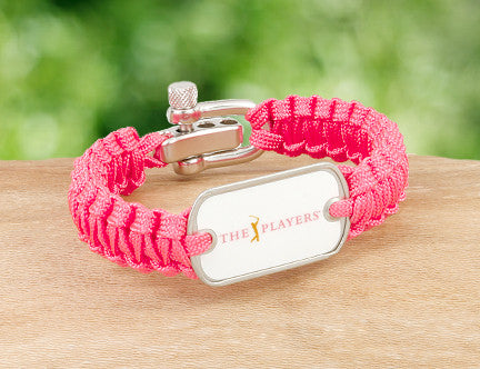 Light Duty Survival Bracelet™ - Officially Licensed - The Players® - Coral (White Tag)