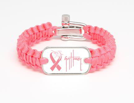 Light Duty Survival Bracelet™-Guy Harvey-Marlin Signature-Pink Ribbon