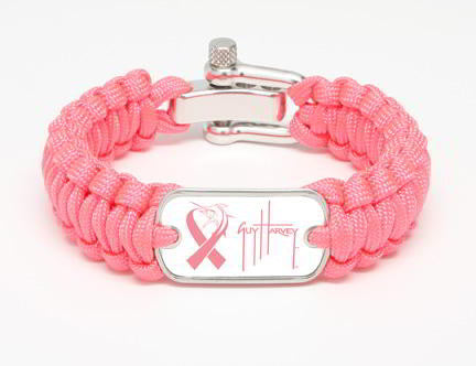 Regular Survival Bracelet™-Guy Harvey Marlin Signature Pink Ribbon