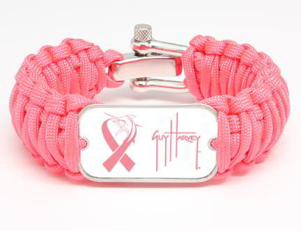 WIDE Survival Bracelet™-Guy Harvey-Marlin Signature-Pink Ribbon