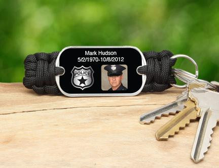 Key Fob - Police Hero Picture