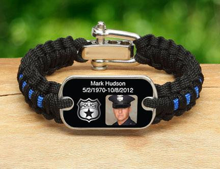 Light Duty Survival Bracelet™ - Police Hero Picture