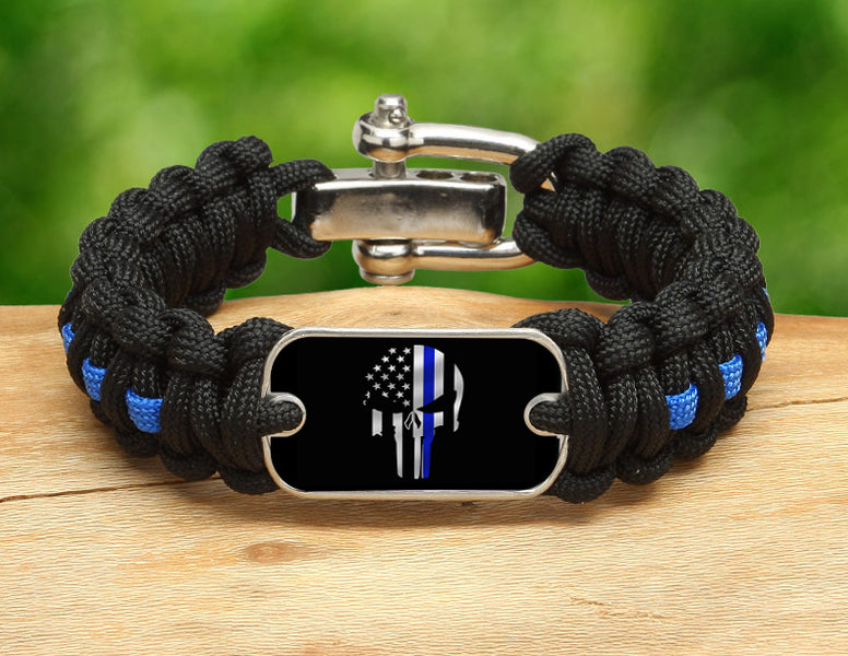 Regular Survival Bracelet™ - Thin Blue Line Punisher