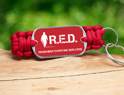 Key Fob - RED Friday Soldier Tag