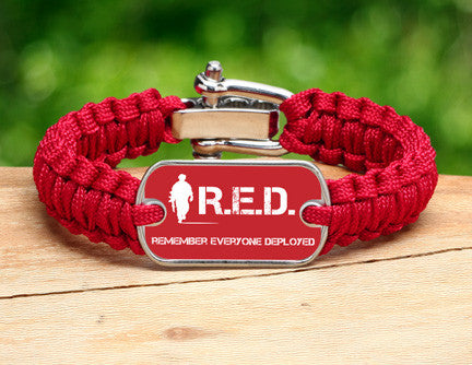Light Duty Survival Bracelet™ - RED Friday Soldier Tag