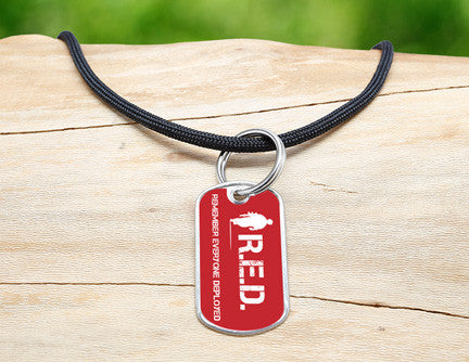 Neck Cord - RED Friday Soldier Tag