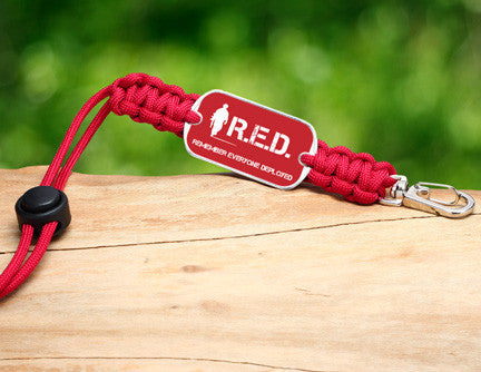 Neck ID Lanyard - RED Friday Soldier Tag