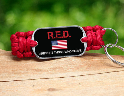 Key Fob - RED Friday Flag Tag