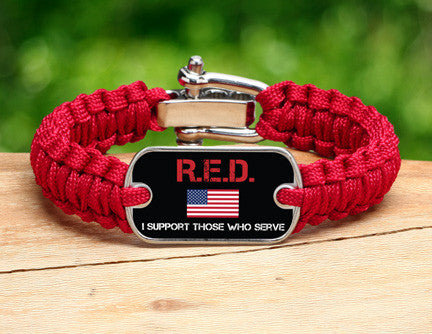 Light Duty Survival Bracelet™ - RED Friday Flag Tag