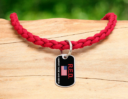Necklace - RED Friday Flag Tag