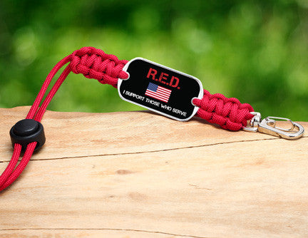 Neck ID Lanyard - RED Friday Flag Tag