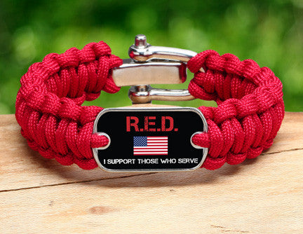 Regular Survival Bracelet™ - RED Friday Flag Tag