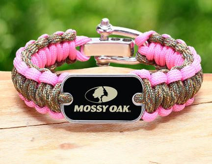 Regular Survival Bracelet™- Mossy Oak® -  Matches Multicam® and Rose Pink