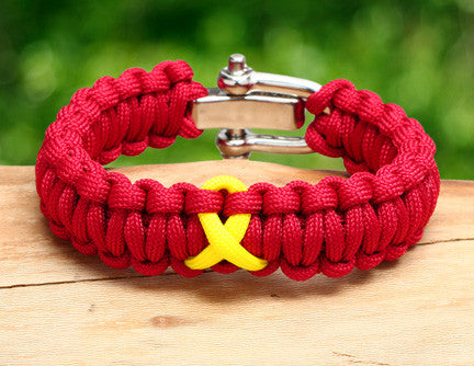 Regular Survival Bracelet™ - RED Friday Ribbon