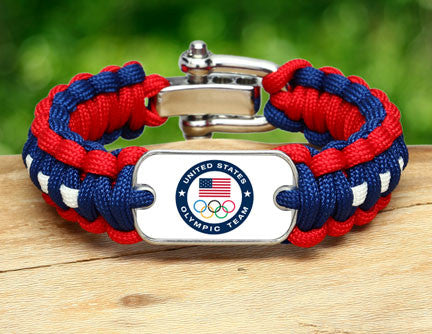 Regular Survival Bracelet - US Olympic Team (White)