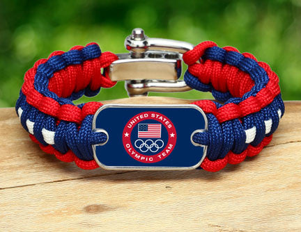Regular Survival Bracelet™ - US Olympic Team (Blue)