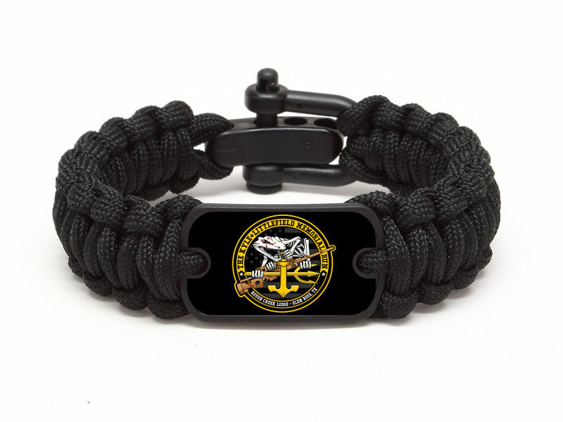 Regular Survival Bracelet - KLMR Bonefrog - Black