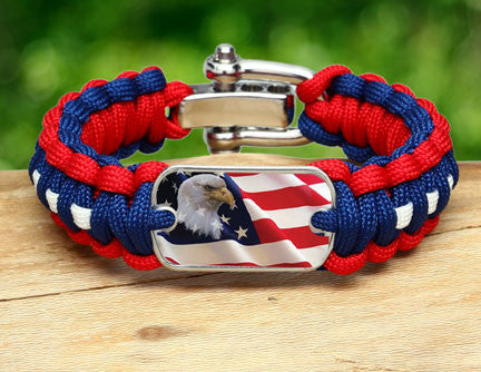 Regular Survival Bracelet - America Strong Eagle1 Logo