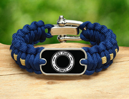 Regular Survival Bracelet™ - Jet Fuel Only Tag