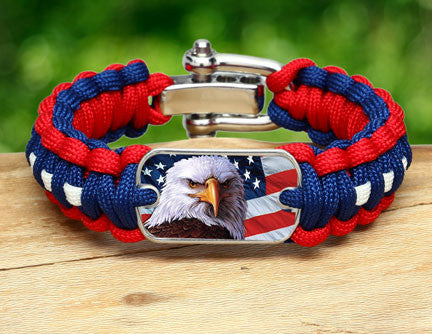 Regular Survival Bracelet - America Strong Eagle2 Logo