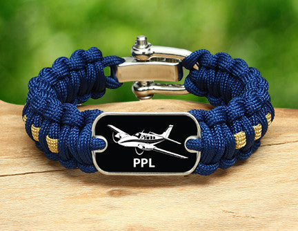 Regular Survival Bracelet™ - Private Pilot License Tag