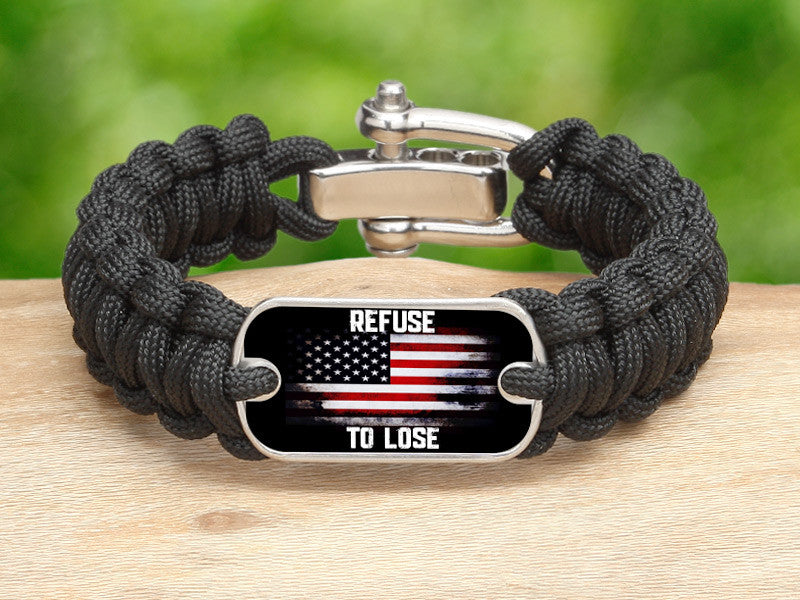 Regular Survival Bracelet™ - Refuse to Lose Flag
