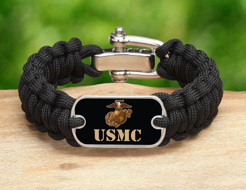 Regular Survival Bracelet™ - Gold USMC Logo