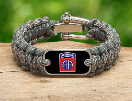 Regular Survival Bracelet™-U.S. Army­­™ 82nd Airborne ACU/Foilage