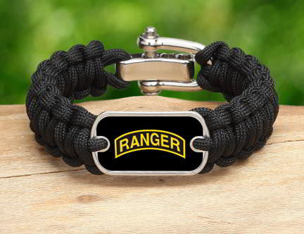 Regular Survival Bracelet™-U.S. Army™ Rangers Black