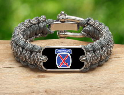 Regular Survival Bracelet™-U.S. Army™ 10th Mountain ACU/Foilage