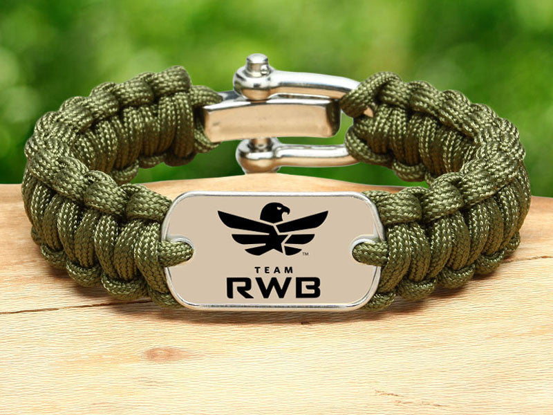 Regular Survival Bracelet™ - Team RWB Lt. OD Green