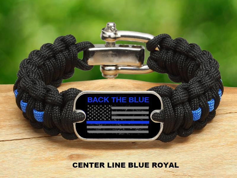 Regular Survival Bracelet™ - Back the Blue - Flag