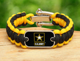 Regular Survival Bracelet - Officially Licensed - U.S. Army™ - Black/Yellow