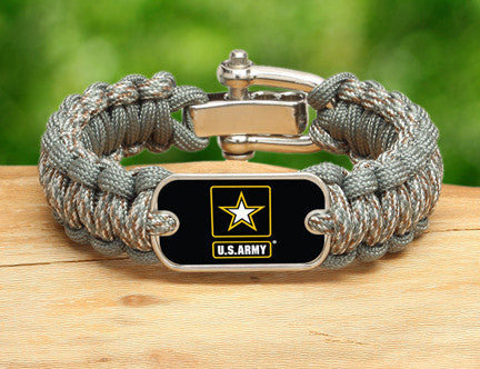Regular Survival Bracelet - Officially Licensed - U.S. Army™ - ACU/Foliage