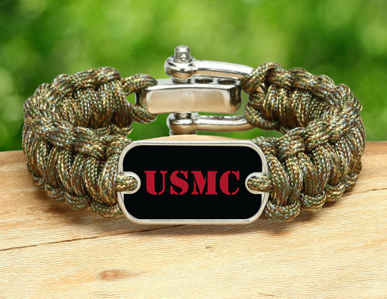 Regular Survival Bracelet™ - Red USMC