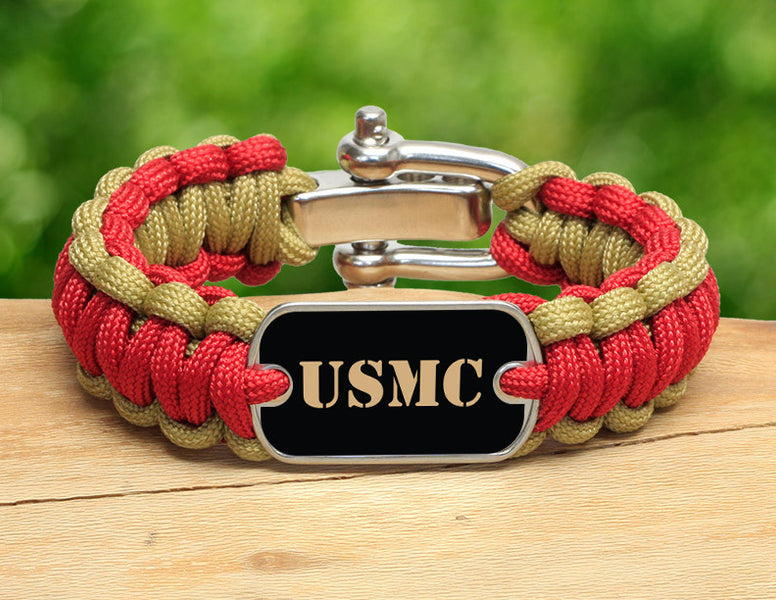 Regular Survival Bracelet™ - Gold USMC