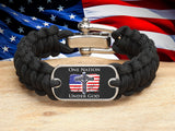 Regular Survival Bracelet™ - One Nation 2 - Black