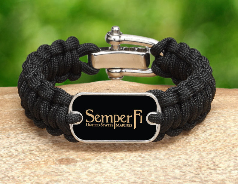 Regular Survival Bracelet™ - Gold Semper Fi