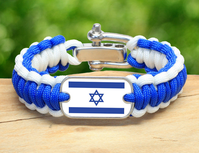 Regular Survival Bracelet™ - Israeli Flag - Blue/White