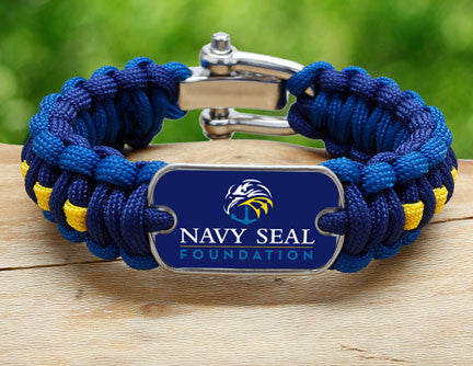 Regular Survival Bracelet™- Navy SEAL Foundation - Blue and Yellow