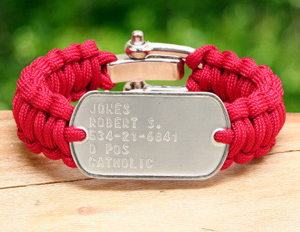 Regular Survival Bracelet™ - RED Friday Custom Embossed