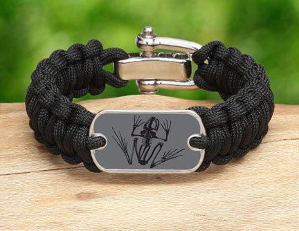 Regular Survival Bracelet™- Navy SEAL Foundation - Bone Frog Stealth