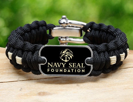 Regular Survival Bracelet™- Navy SEAL Foundation - Black and Sand
