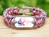 Regular Survival Bracelet™-Guy Harvey-Camo Pink Ribbon