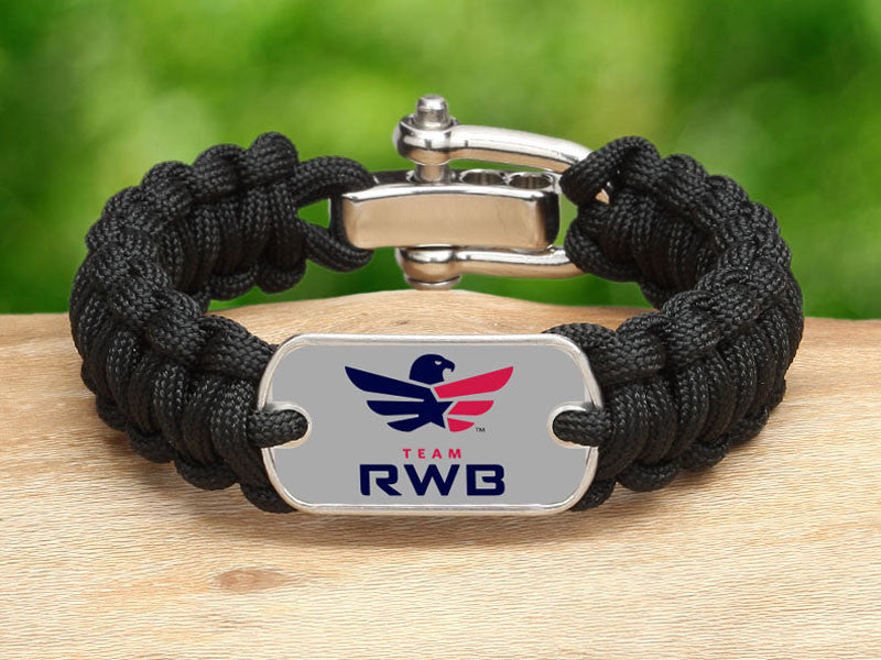 Regular Survival Bracelet™ - Team RWB Black