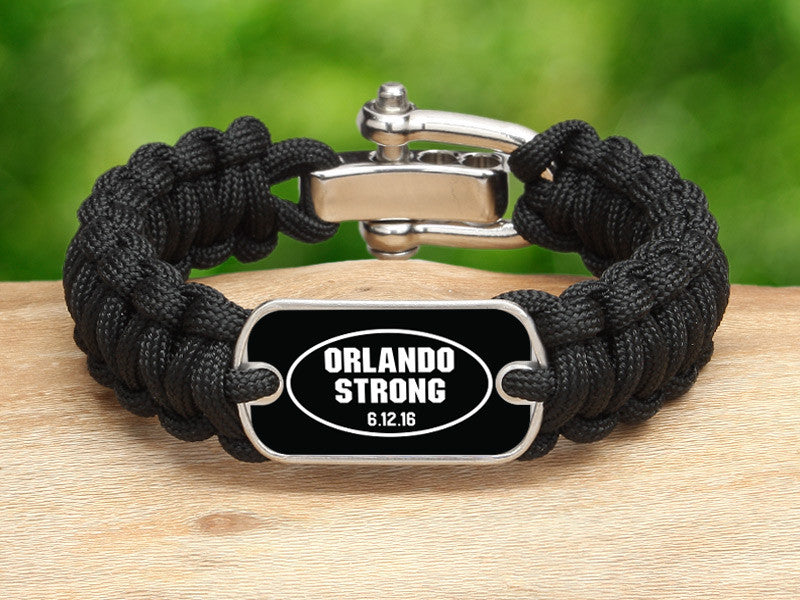 Regular Survival Bracelet™ - Orlando Strong Black