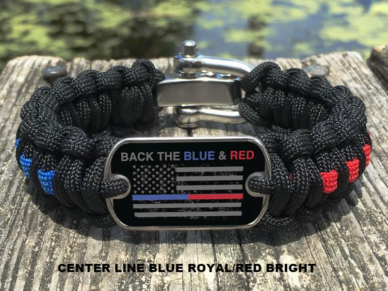 Regular Survival Bracelet™ - Back the Blue & Red