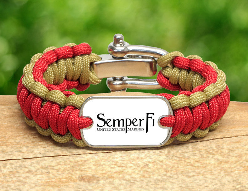 Regular Survival Bracelet™ - White Semper Fi