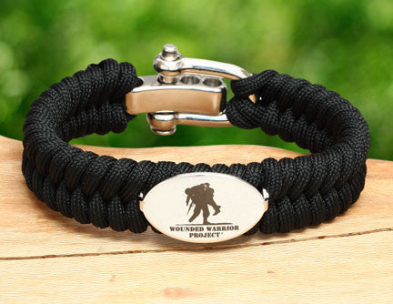 Regular Fishtail Survival Bracelet - Wounded Warrior Project Medallion