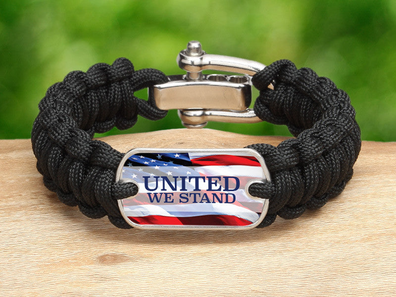 Regular Survival Bracelet™ - United We Stand Black